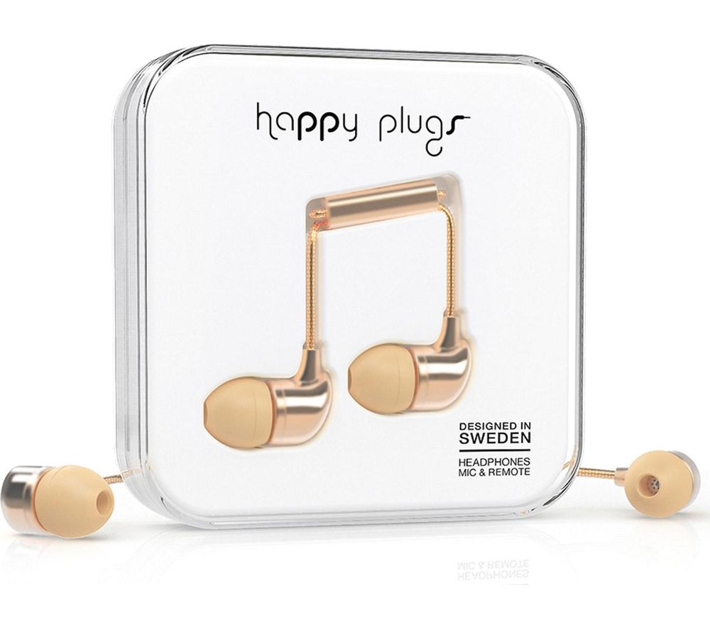 HAPPY PLUGS Deluxe Edition Headphones - Champagne