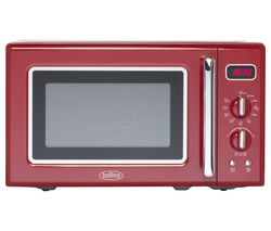 BELLING Retro FMR2080S Solo Microwave - Red