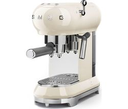 SMEG ECF01CRUK Coffee Machine - Cream