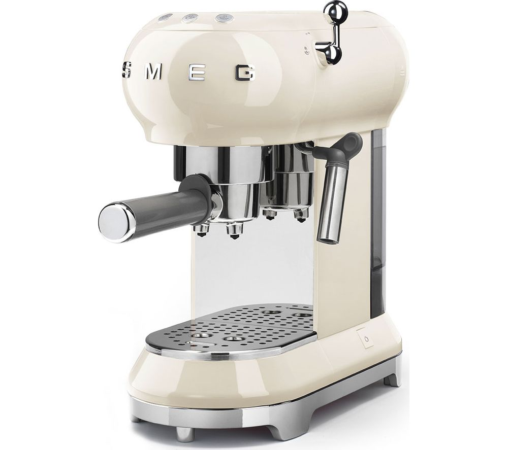 SMEG ECF01CRUK Coffee Machine - Cream, Cream