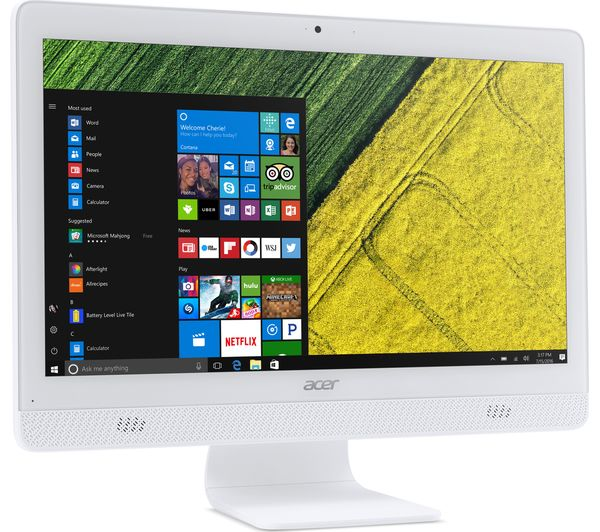 Acer aspire c20 720 195 all in one pc white deals pc world acer aspire c20 720 195 all in one pc white fandeluxe Gallery