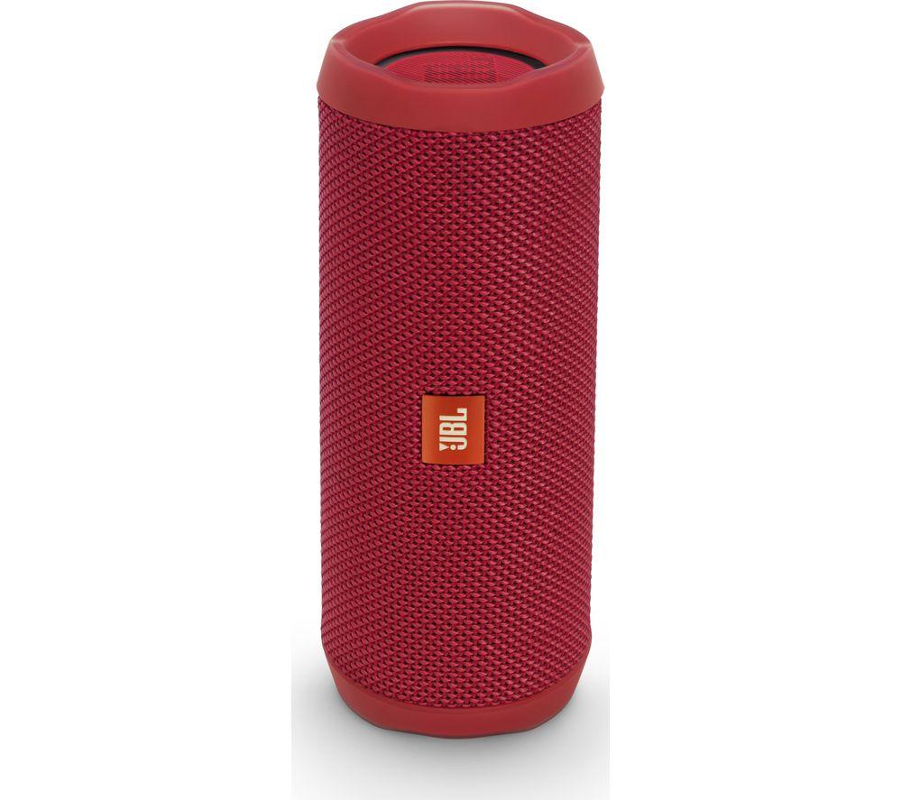 JBL Flip 4 Portable Bluetooth Wireless Speaker - Red