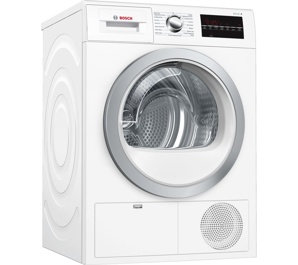 BOSCH Serie 6 WTG86402GB Condenser Tumble Dryer - White