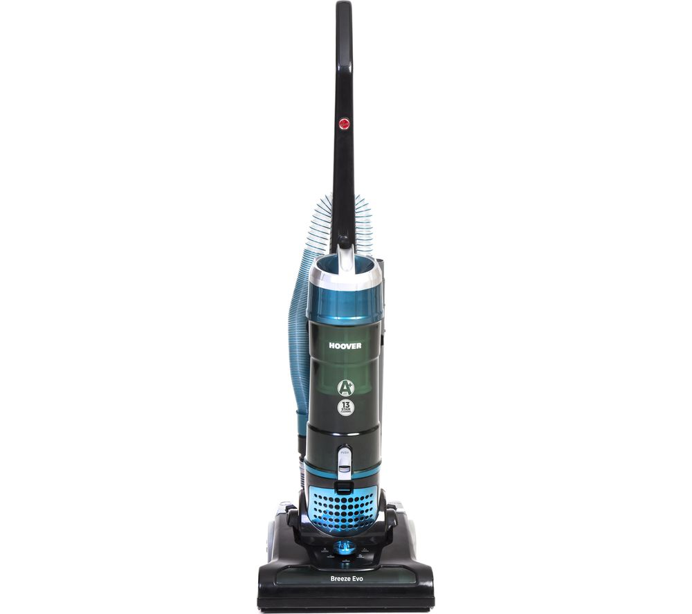HOOVER Breeze Evo TH31BO01 Upright Bagless Vacuum Cleaner - Black & Turquoise