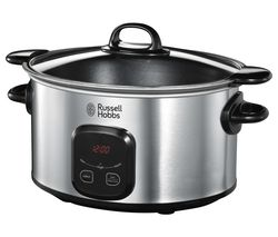 RUSSELL HOBBS 22750 Slow Cooker - Stainless Steel Best Price, Cheapest Prices
