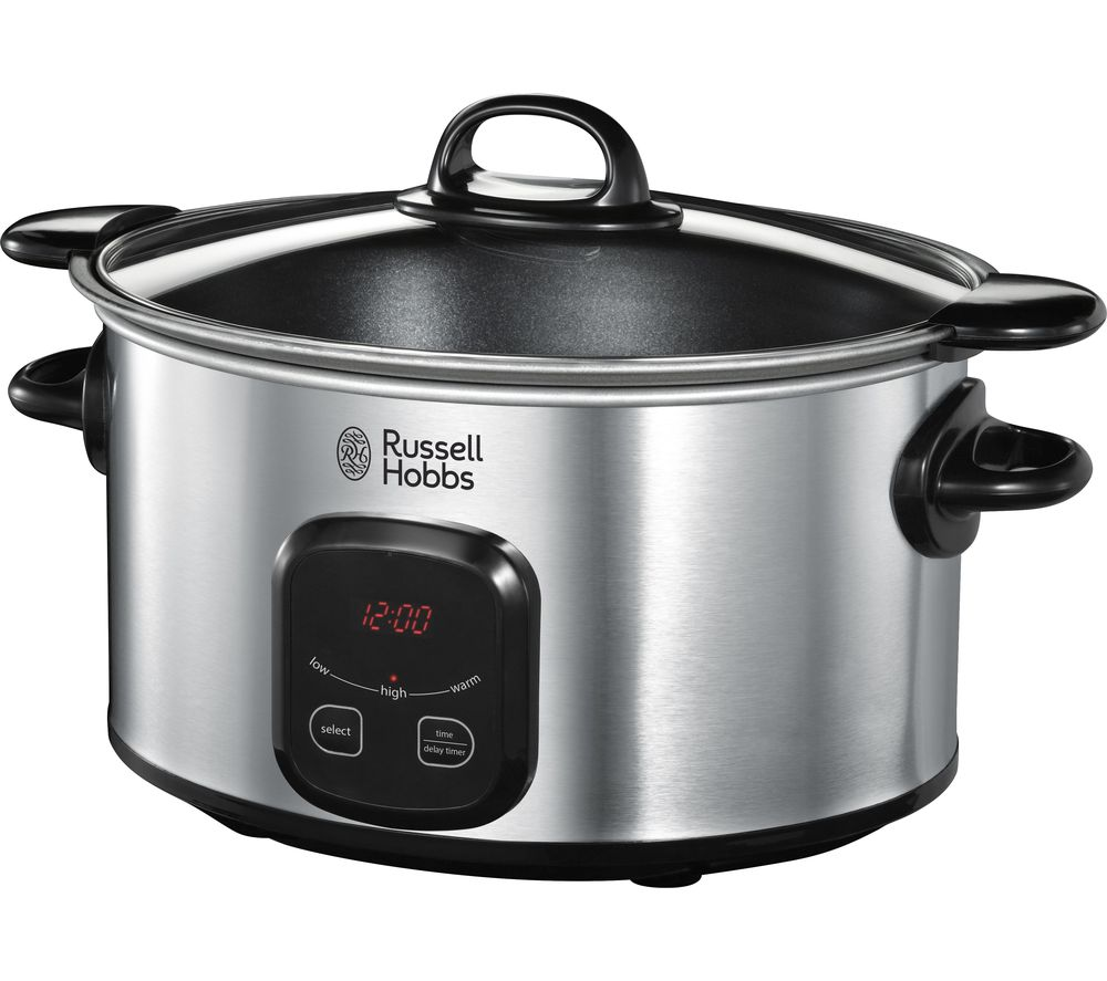 buy russell hobbs 22750 slow cooker stainless steel. Black Bedroom Furniture Sets. Home Design Ideas