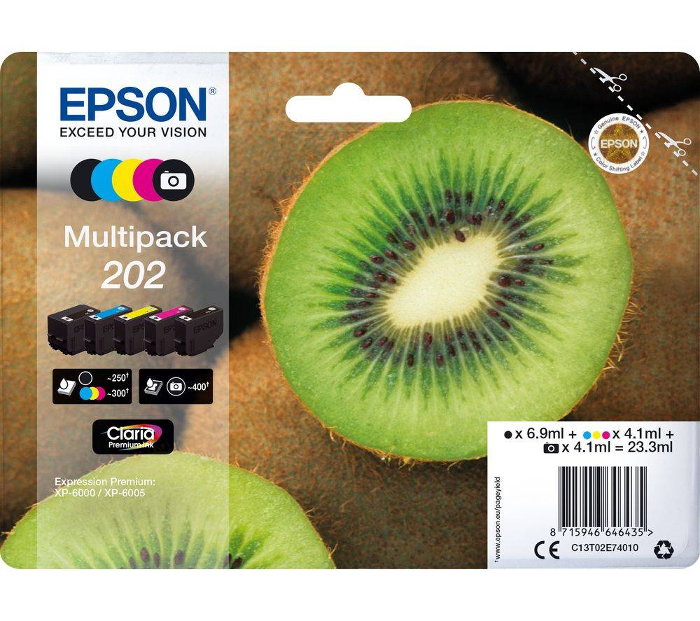 EPSON 202 Kiwi 5-colour Ink Cartridges