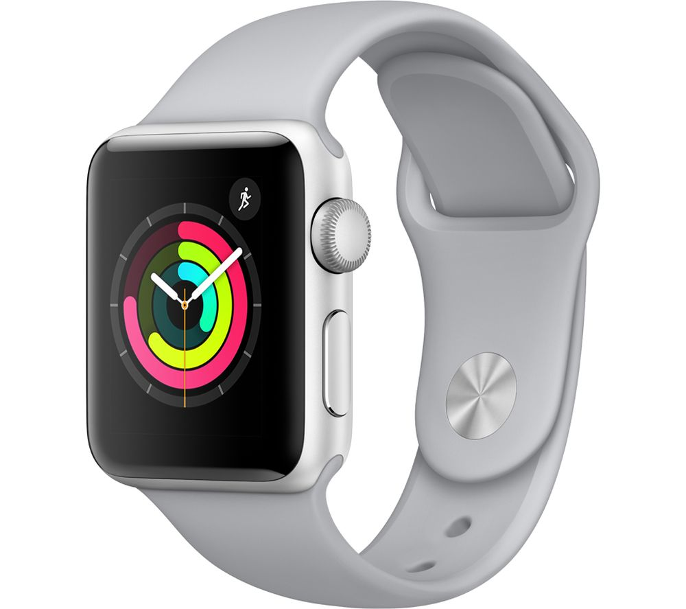 APPLE Watch Series 3 - Silver, 38 mm, Silver cheapest retail price
