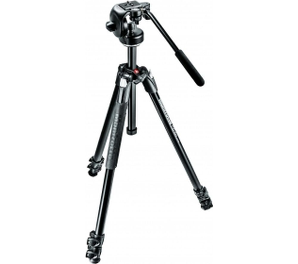 MANFROTTO 290 Xtra Alu 3-Section Fluid Head Tripod - Black
