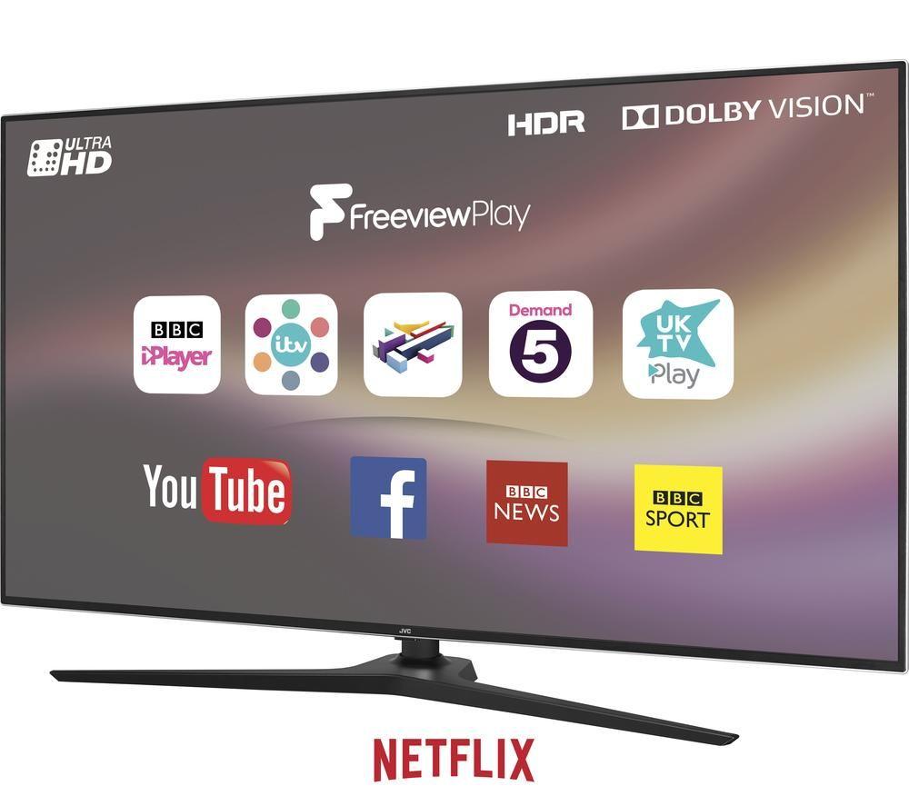"JVC LT-55C888 55"" Smart 4K Ultra HD HDR LED TV"