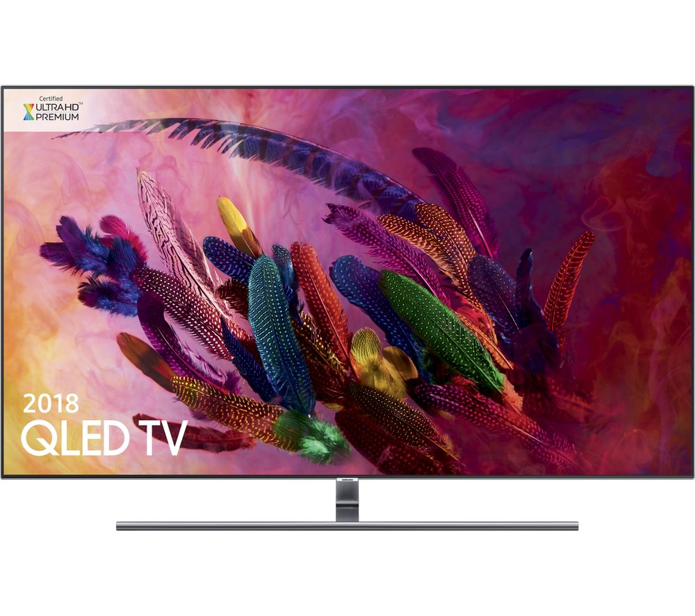 "Image of 55"" SAMSUNG QE55Q7FNATXXU Smart 4K Ultra HD HDR QLED TV, Gold"