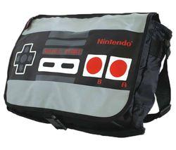 NES Reversible Messenger Bag - Black & Grey