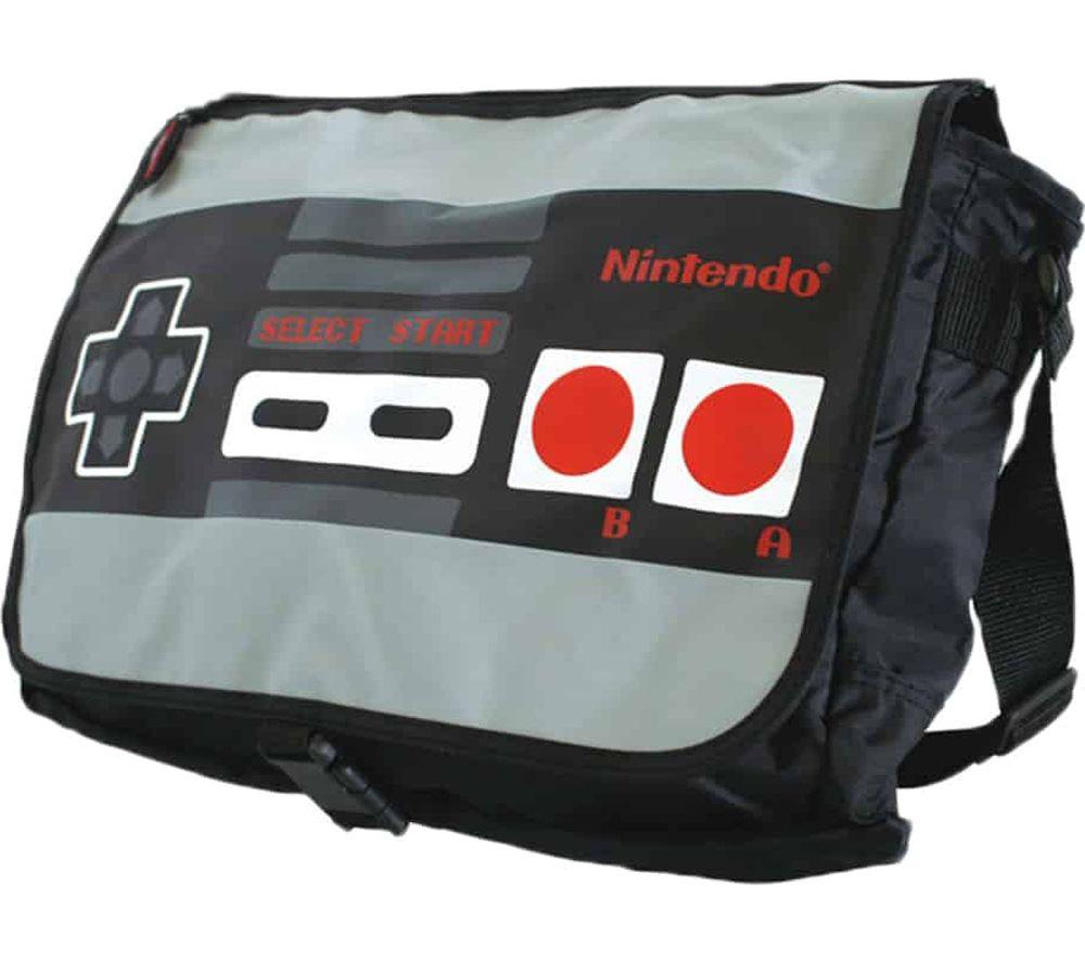 NINTENDO NES Reversible Messenger Bag - Black & Grey