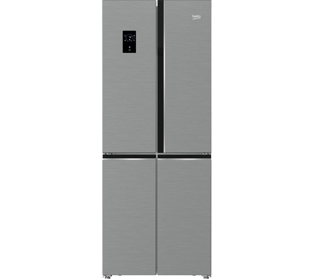 BEKO Pro GNE480E20FX Fridge Freezer - Stainless Steel