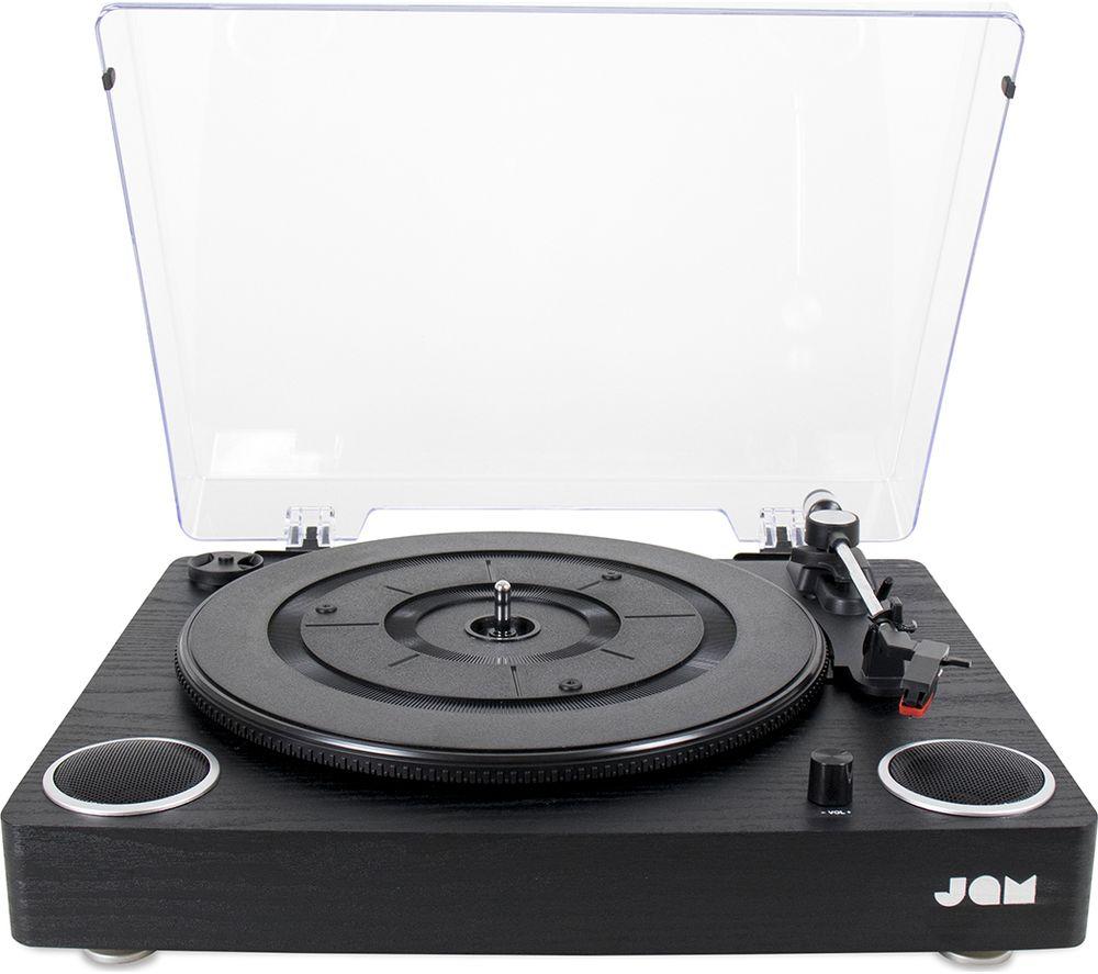 JAM Play HX-TTP300BWD Belt Drive Turntable - Black, Black