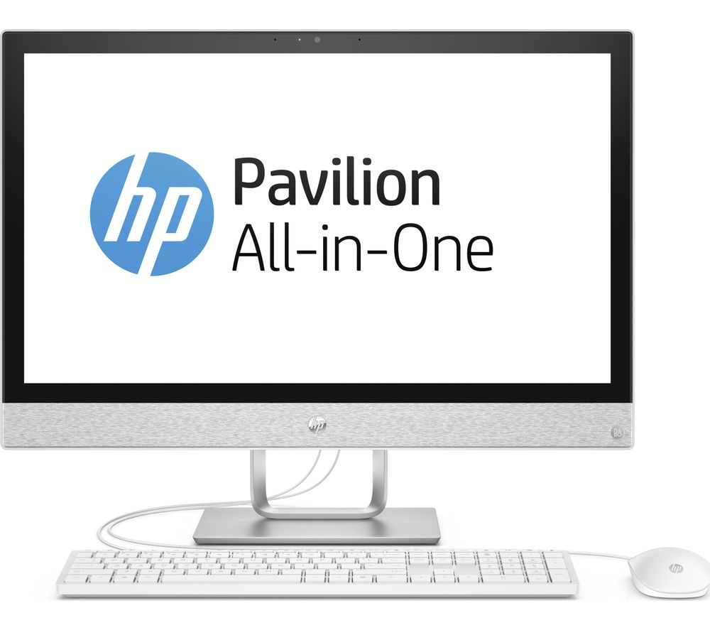 """HP Pavilion 24-r101na 24"""" AMD Ryzen 5 All-in-One PC - 1 TB HDD, White"""