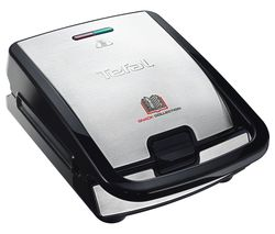 TEFAL Snack Collection SW852D27 Sandwich Toaster - Black & Stainless Steel