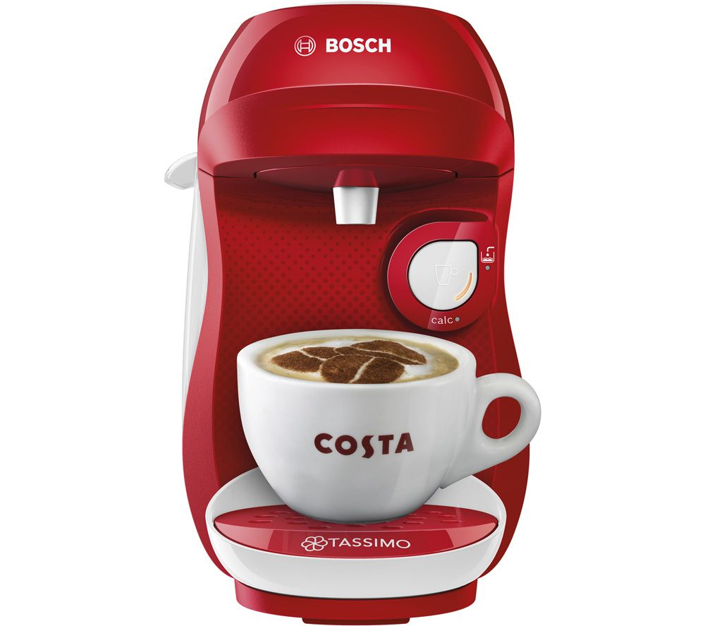 Image of TASSIMO by Bosch Happy TAS1006GB Coffee Machine - Red & White, Red