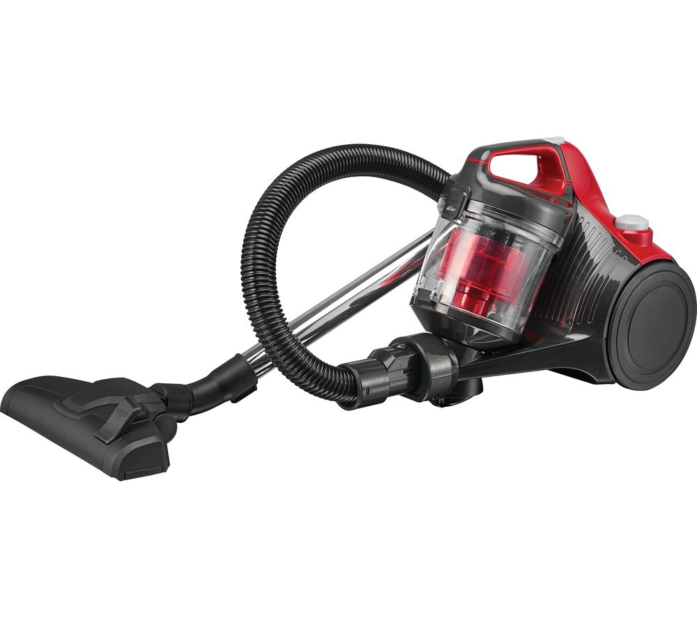 ESSENTIALS C700VC18 Cylinder Bagless Vacuum Cleaner - Red & Grey