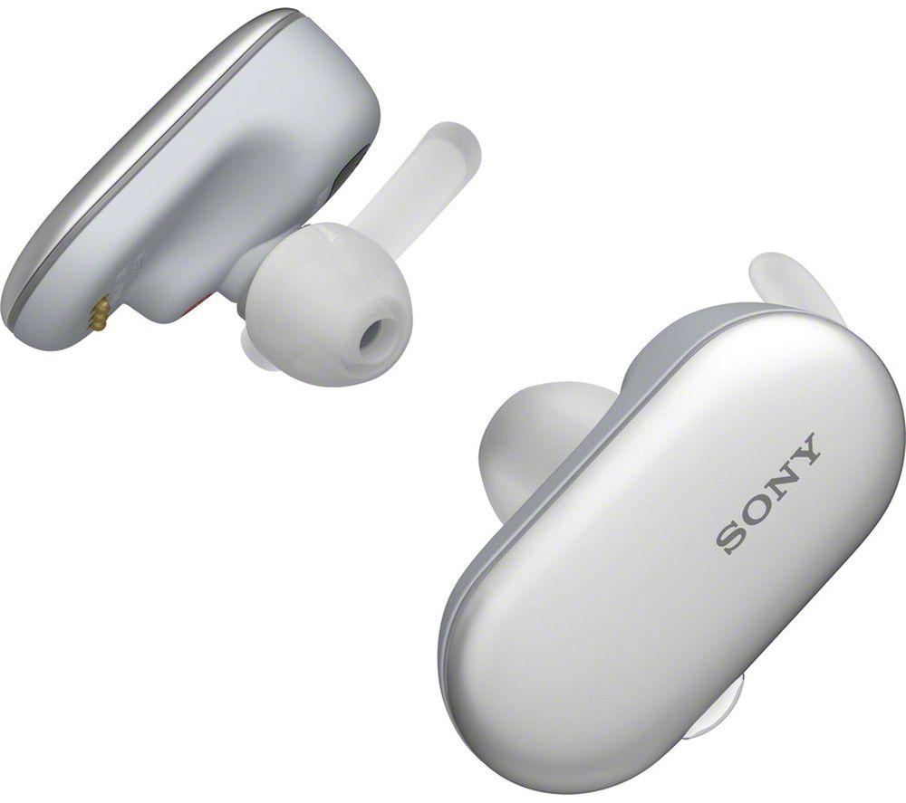 SONY WF-SP900W Wireless Bluetooth Headphones - White