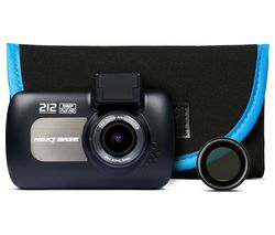 NEXTBASE 212 Lite Dash Cam with Carry Case & Polarising Lens Bundle - Black
