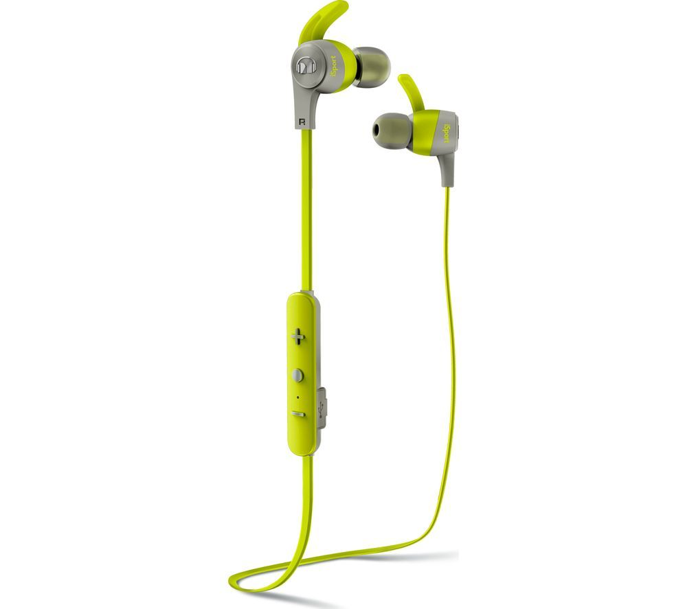 MONSTER iSport Achieve Wireless Bluetooth Headphones - Green