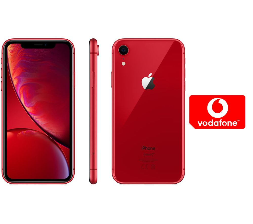 APPLE iPhone XR & Pay As You Go Micro SIM Card Bundle - 256 GB, Red, Red cheapest retail price