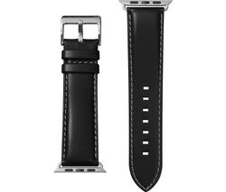Apple Watch 42 / 44 mm Oxford Leather Loop Strap - Noir, Small
