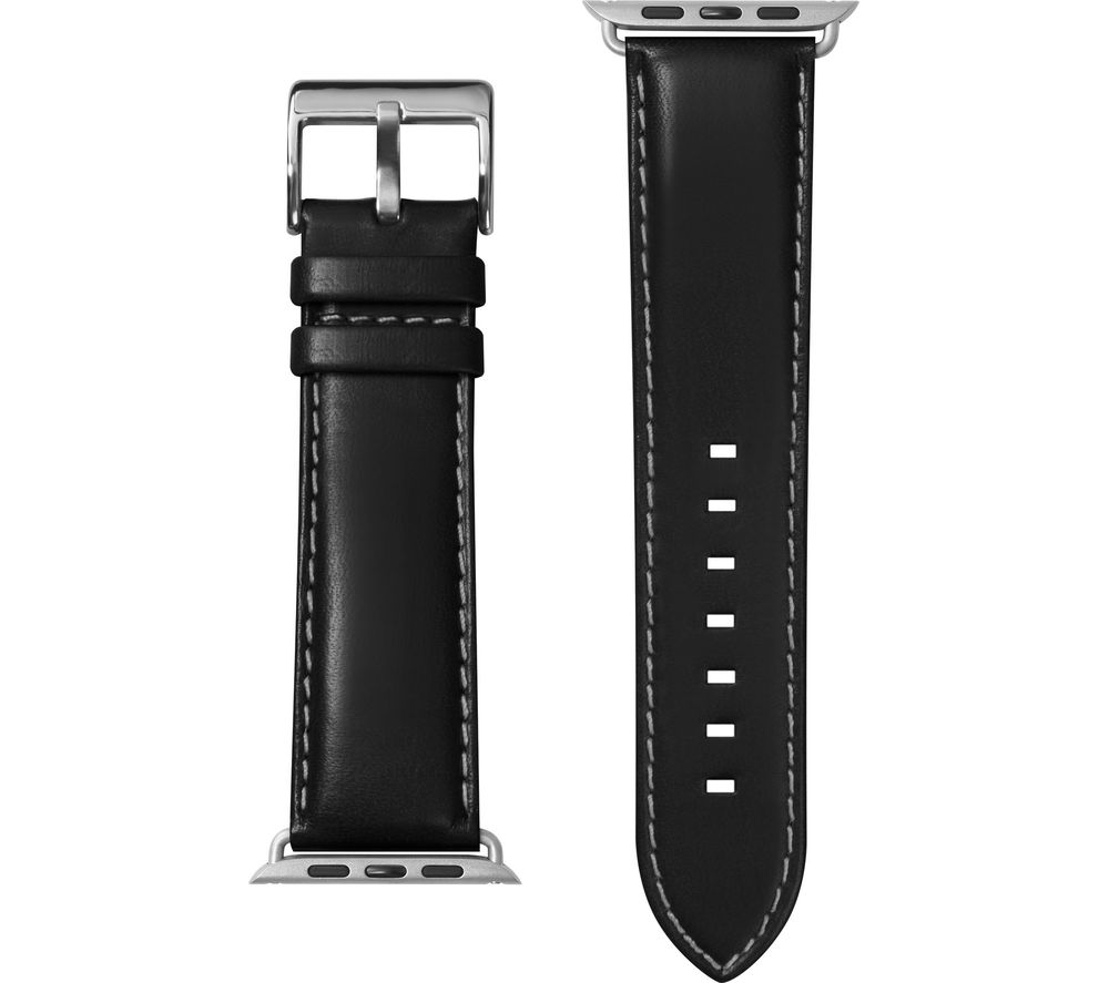 Image of LAUT Apple Watch 42 / 44 mm Oxford Leather Loop Strap - Noir, Small