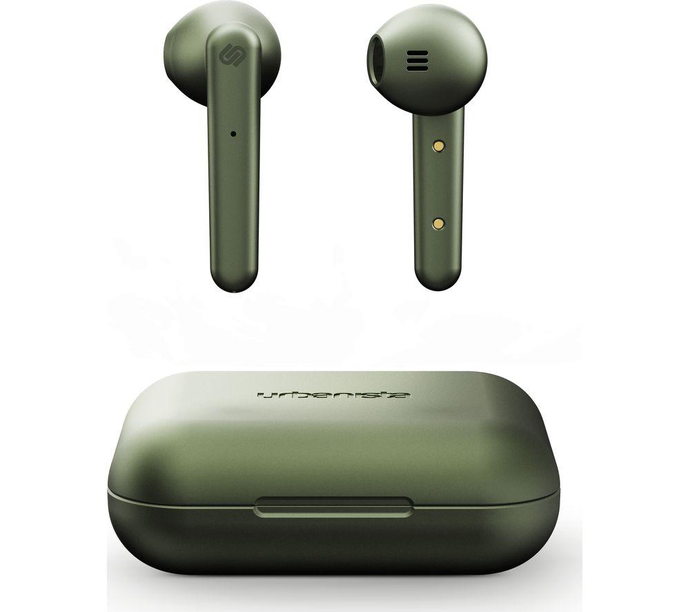 Image of URBANISTA Stockholm Wireless Bluetooth Earphones - Olive Green, Olive