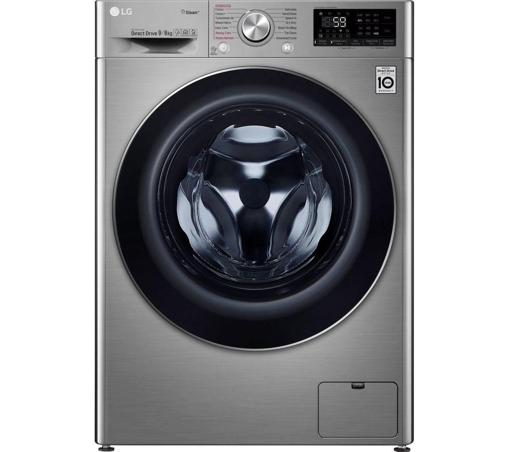 LG Vivace FWV796STS WiFi-enabled 9 kg Washer Dryer - Graphite