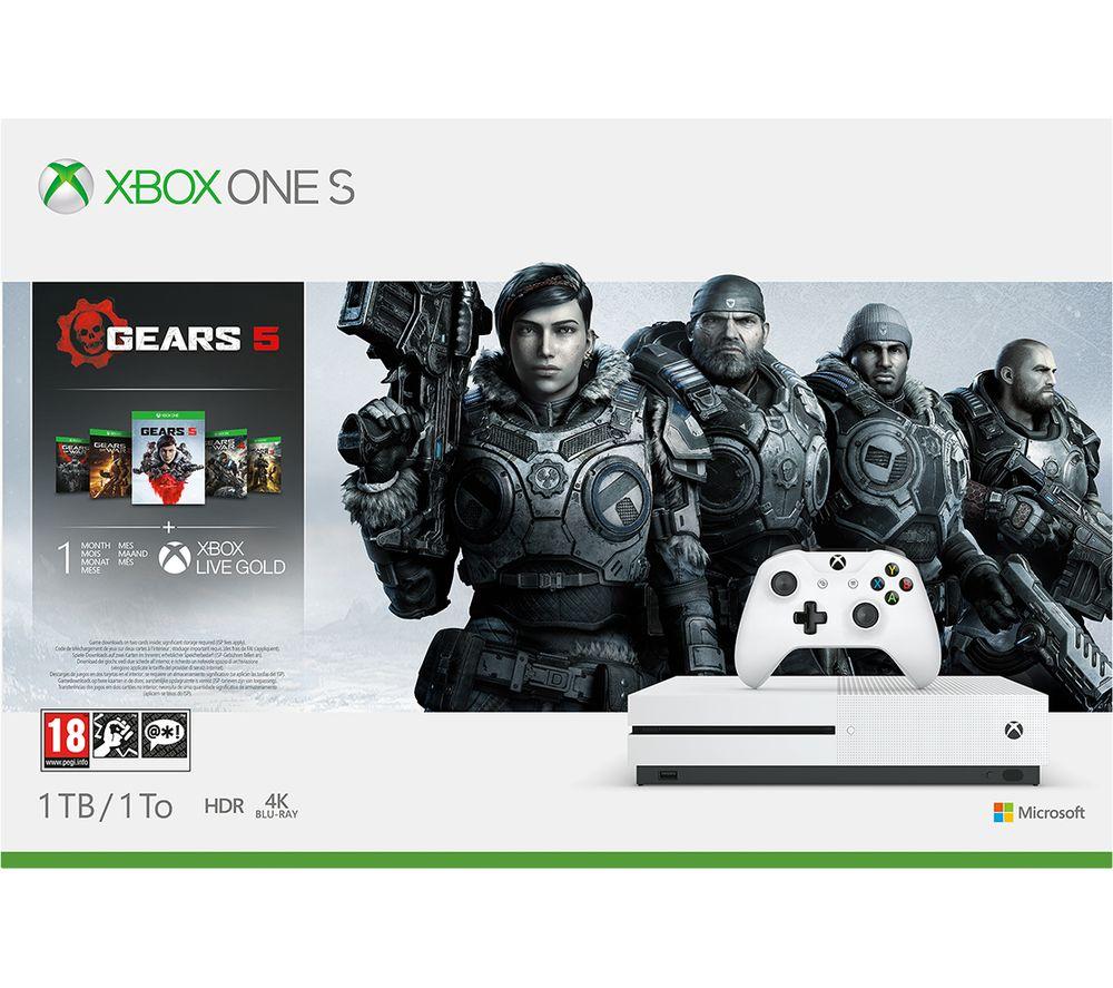 MICROSOFT Xbox One S with Gears 5 Bundle - 1 TB, Gold