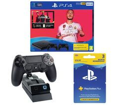 SONY Playstation 4 with FIFA 20, Two Wireless Controllers, Docking Station & Playstation Plus Bundle - 500 GB