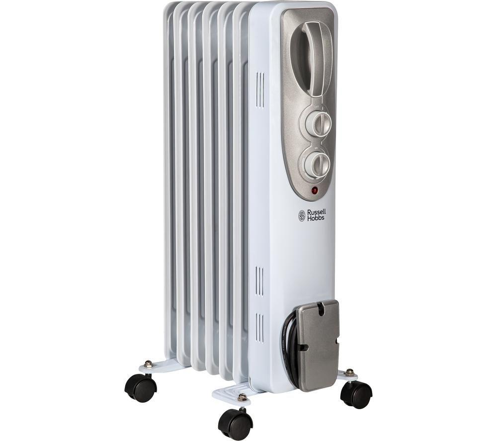 RHOFR5001 Portable Oil-Filled Radiator - White, White