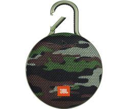 JBL Clip 3 CLIP3SQUAD Portable Bluetooth Speaker - Camo