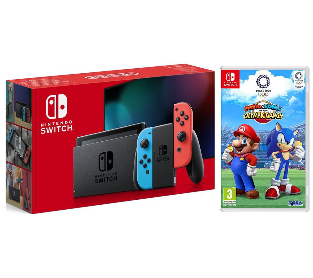NINTENDO Switch Neon & Mario & Sonic at the Olympic Games Tokyo 2020 Bundle