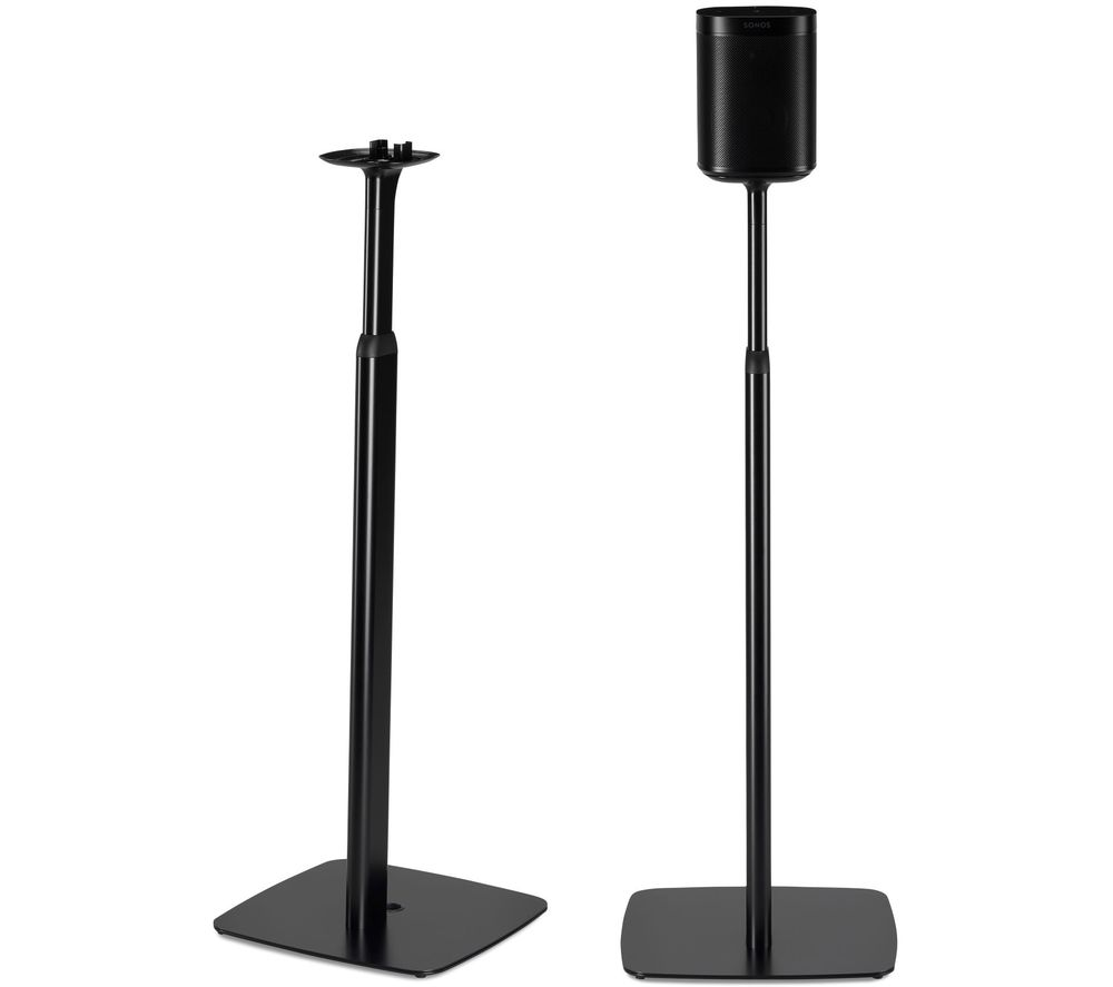 FLEXSON FLXS1AFS2021 Sonos One & Play:1 Adjustable Floorstand Pair - Black