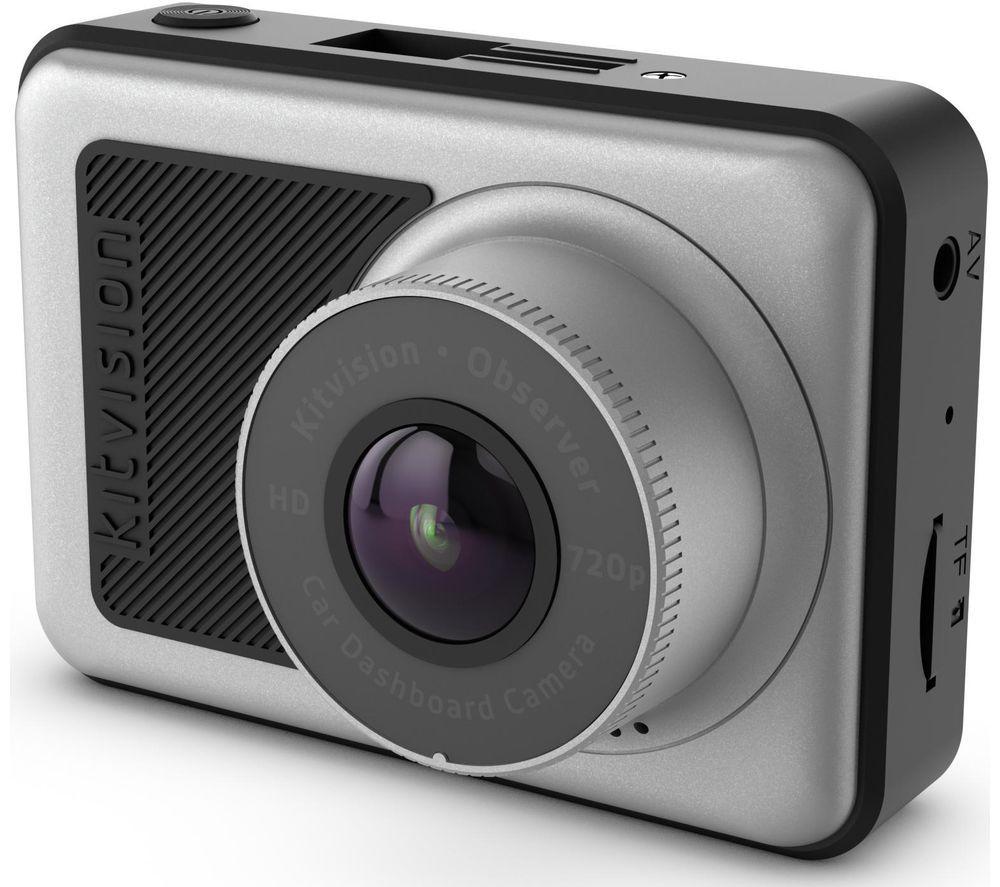 KITVISION Observer HD Dash Cam - Black, Black