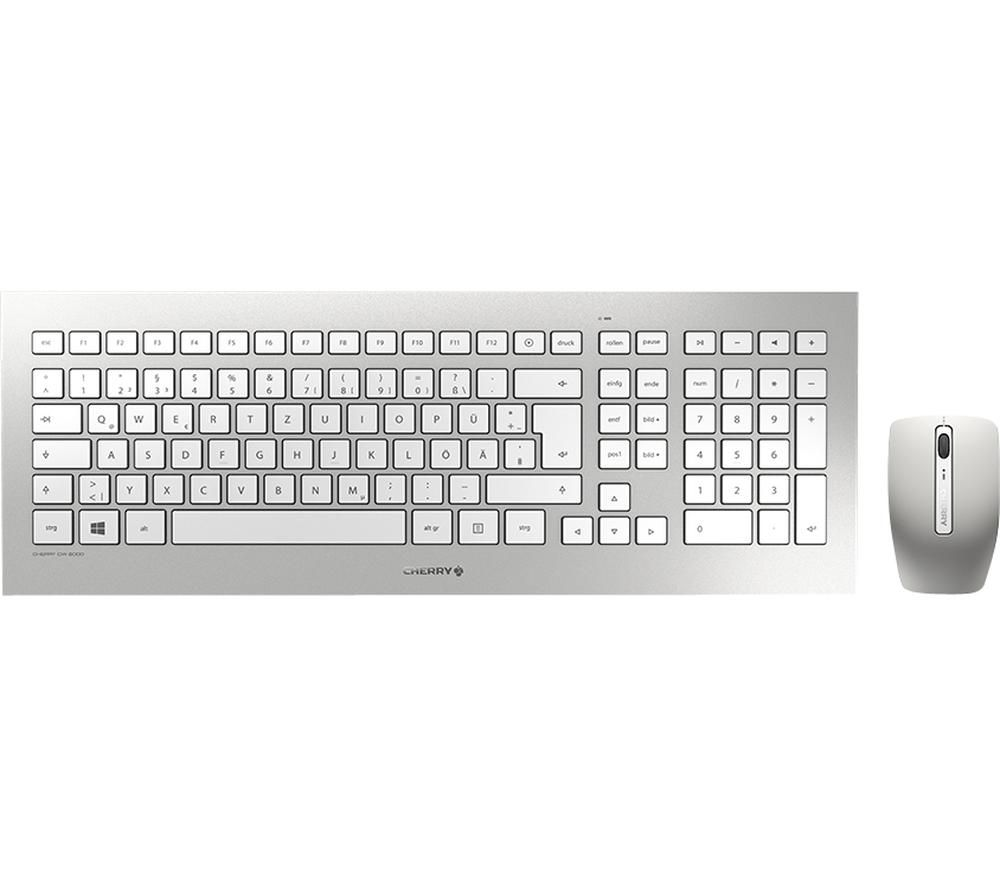 Image of CHERRY DW 8000 Wireless Keyboard & Mouse Set, Silver