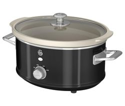 SWAN Retro SF17021BN Slow Cooker - Black Best Price, Cheapest Prices