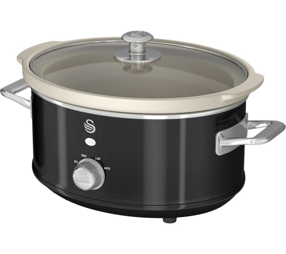 SWAN Retro SF17021BN Slow Cooker - Black
