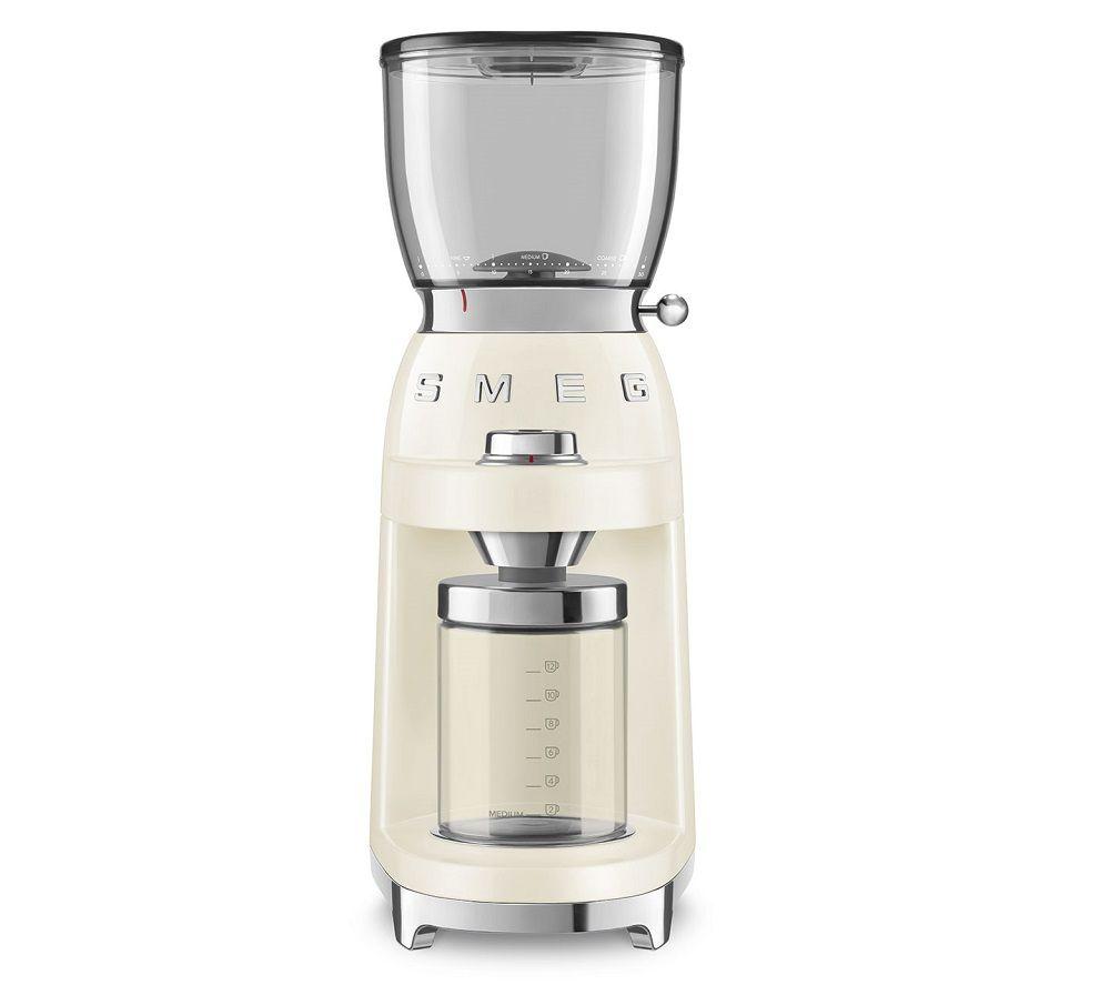 SMEG CGF01CRUK Electric Coffee Grinder - Cream