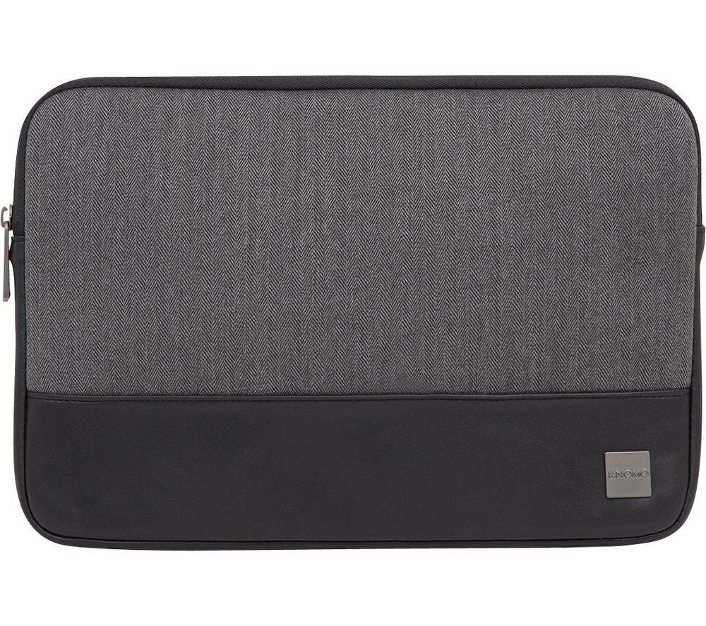 "Image of KNOMO Herringbone 13"" Laptop Sleeve - Grey, Grey"