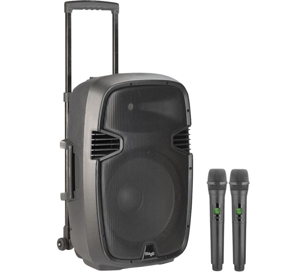 "STAGG 12"" Portable Speaker with Wireless Microphones"