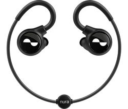 Nuraloop Wireless Bluetooth Noise-Cancelling Sports Earphones - Black