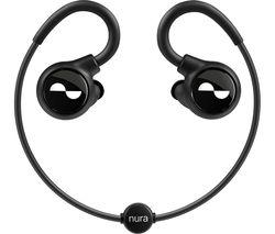 Nuraloop Wireless Bluetooth Noise-Cancelling Sports Earphones - Black
