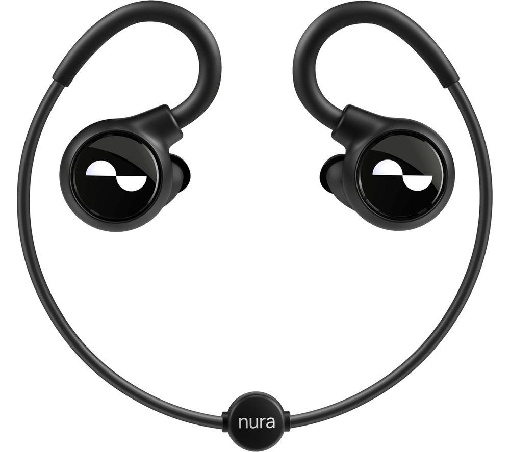 Image of NURA Nuraloop Wireless Bluetooth Noise-Cancelling Sports Earphones - Black, Black