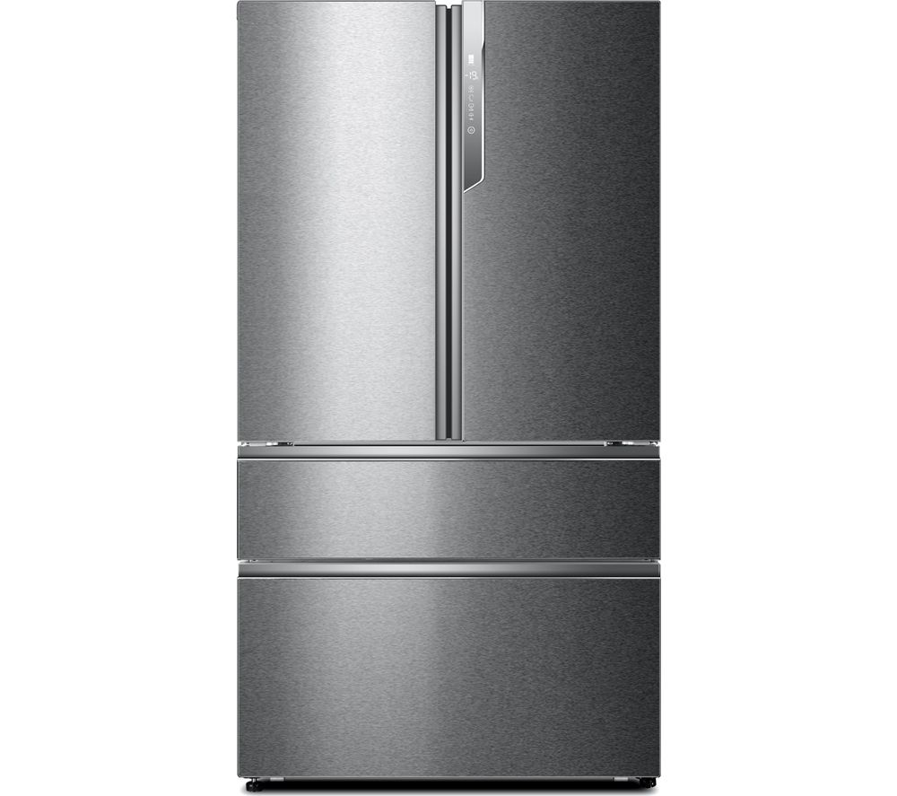 HAIER HB26FSSAAA Fridge Freezer - Silver