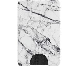 PopWallet Credit & Business Card Case - White Marble