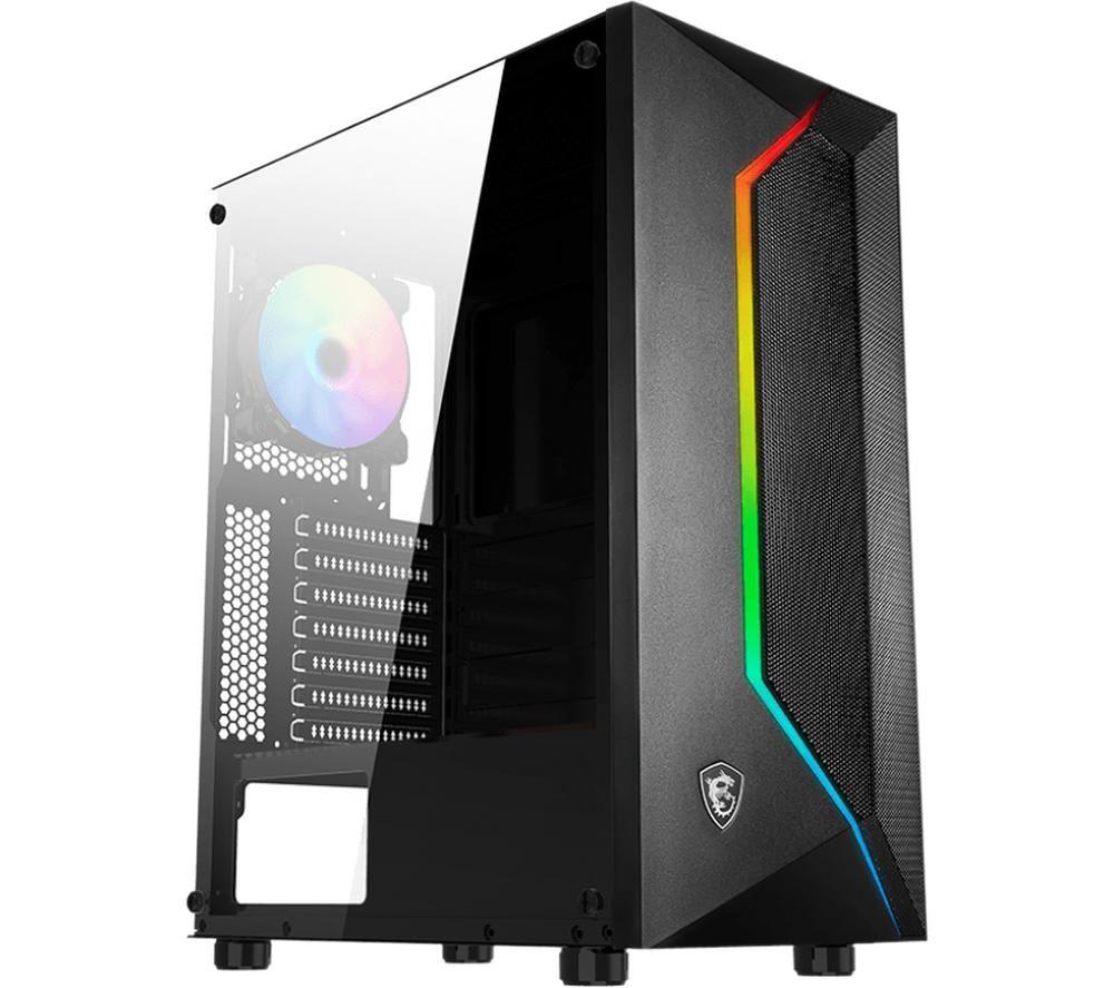 Image of MSI MAG Vampiric 100R ATX Mid-Tower PC Case, Black